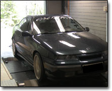 Effektmätning Opel Calibra 16v Turbo - Orginal ECU