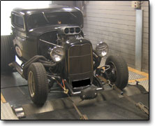 Effektmätning Ford 1932 Hot Rod - Förgasare